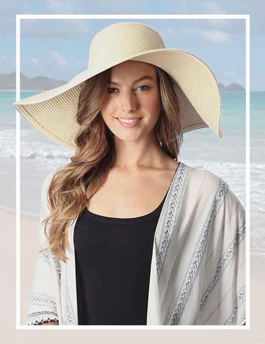 Floppy Beach Hat Wide Brim Kai Beige: Shaka Time Hawaii Clothing Store