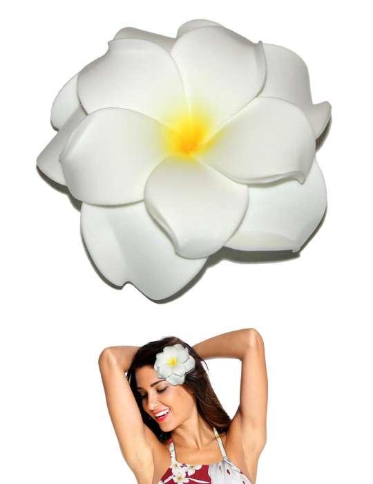 Extra large white flower double plumeria hair clip shaka time extra large white flower double plumeria hair clip mightylinksfo