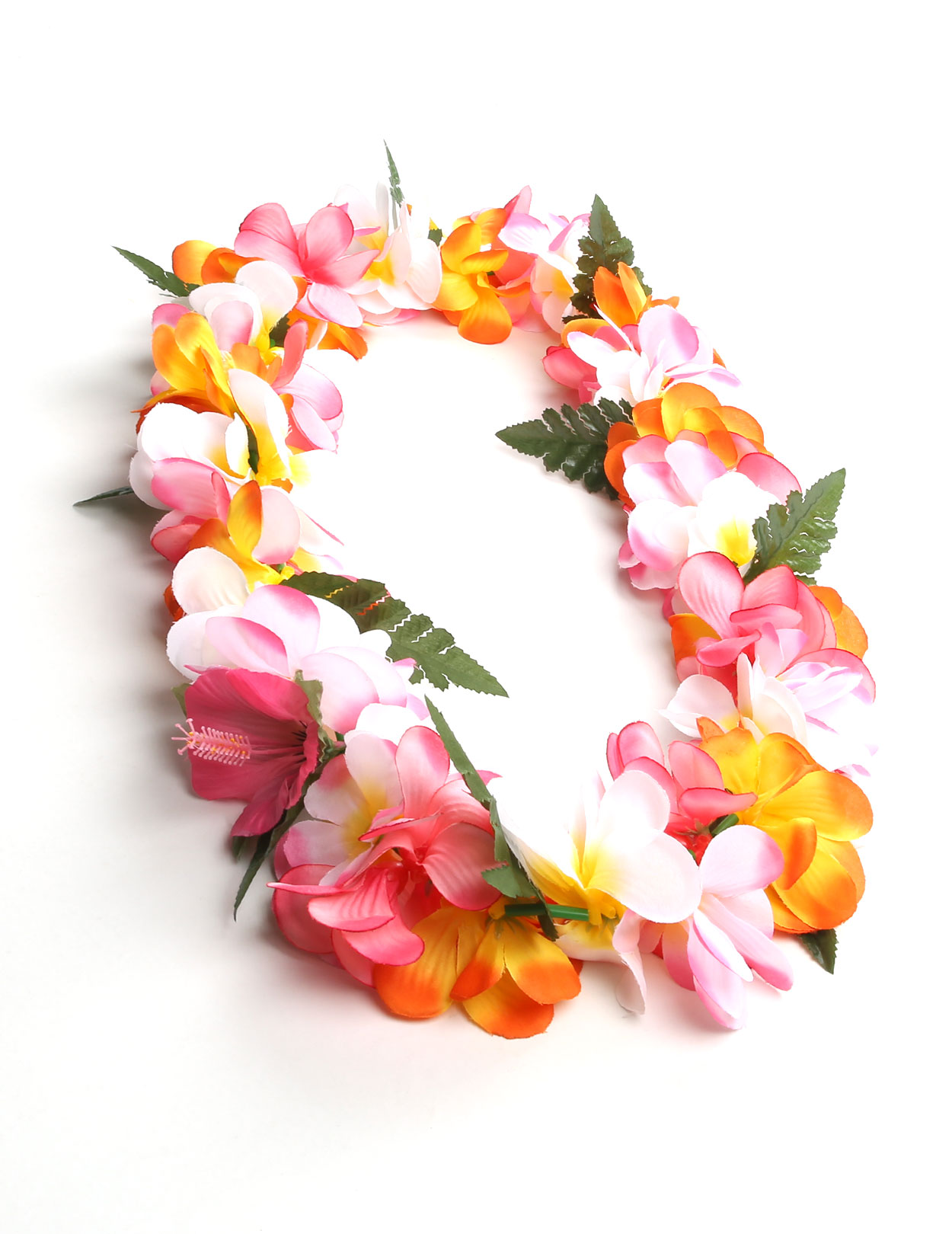 Multicolor Silk Plumeria Flower Leis Hawaii Shaka Time Hawaii