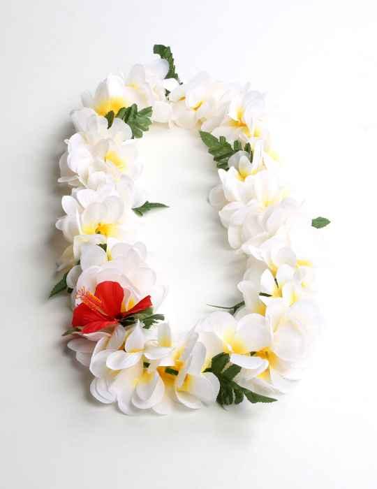 Natural color plumeria flower silk lei shaka time hawaii clothing store natural color plumeria flower silk lei mightylinksfo