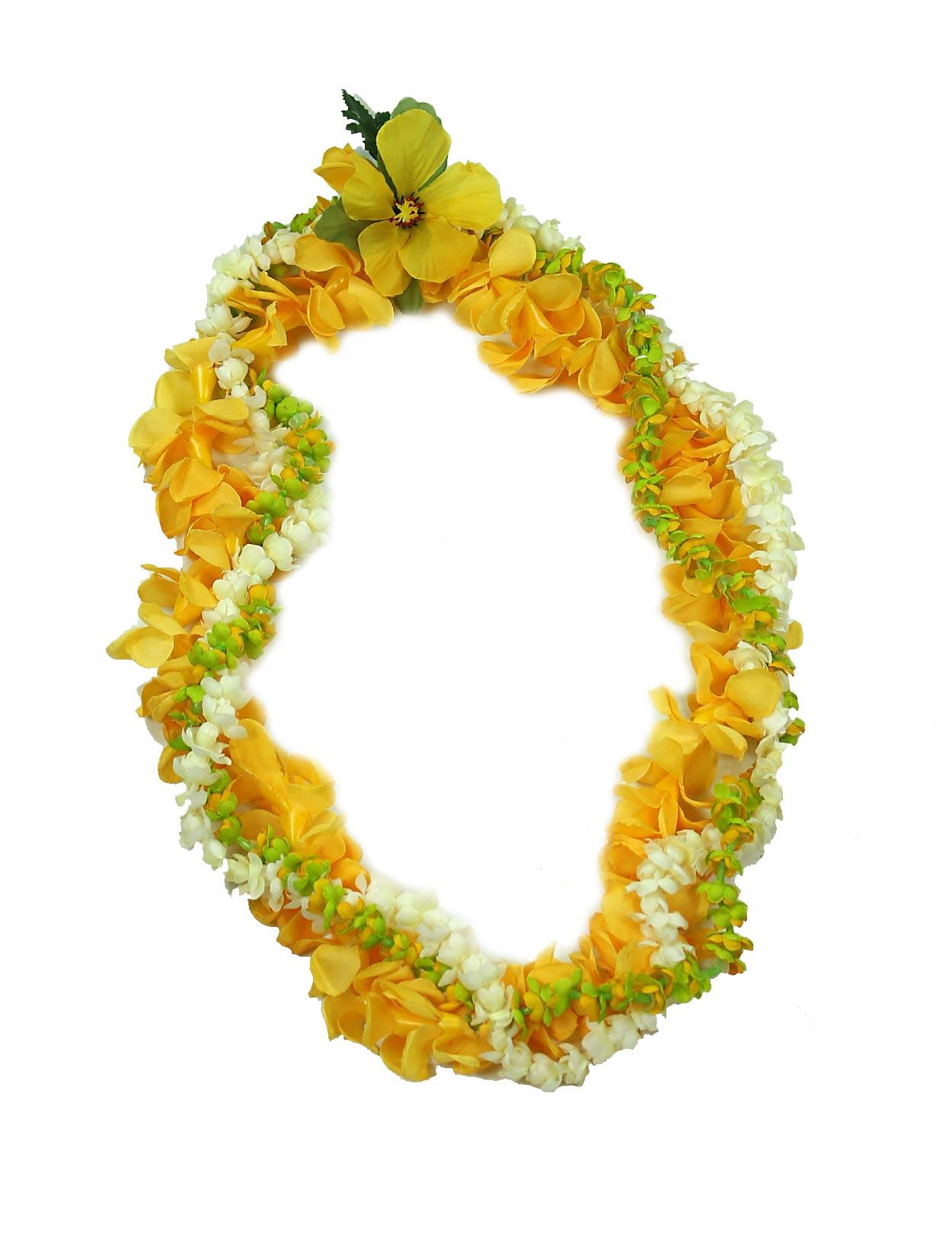 Leis from hawaii headbands anklets shaka time hawaii pakalana pikake puakenikeni twirl silk flower lei izmirmasajfo Images