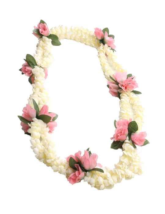 Double pikake rope and pink rosebuds silk lei shaka time hawaii double pikake rope and pink rosebuds silk lei mightylinksfo