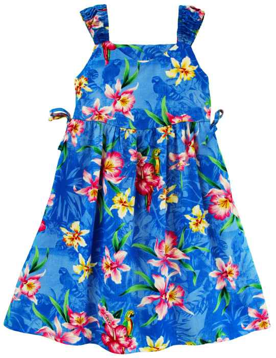 6647a14a6 Girl's Hawaiian Dress with Bungee Straps Mili: Shaka Time Hawaii Clothing  Store