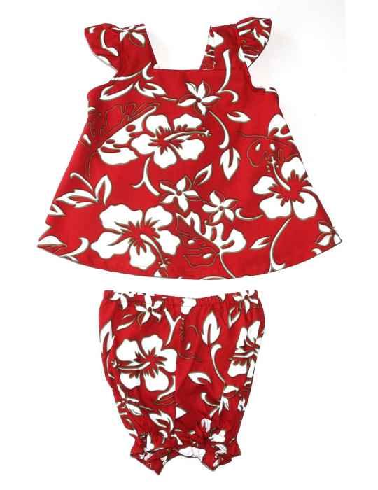 a640b11e3fa Baby Girl Clothes 2 Piece Hawaii Capri Set Classic Hibiscus Pareo  Shaka  Time Hawaii Clothing Store