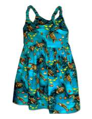 Girls Hawaiian Dresses - Shaka Time Hawaii