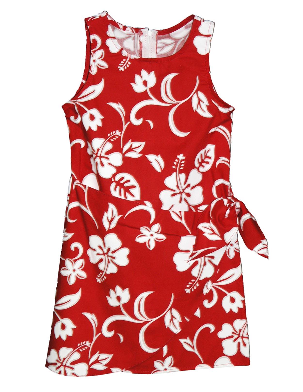 4f52d50edce Girls Sarong Hawaiian Dress Hibiscus Kaneohe  Shaka Time Hawaii Clothing  Store