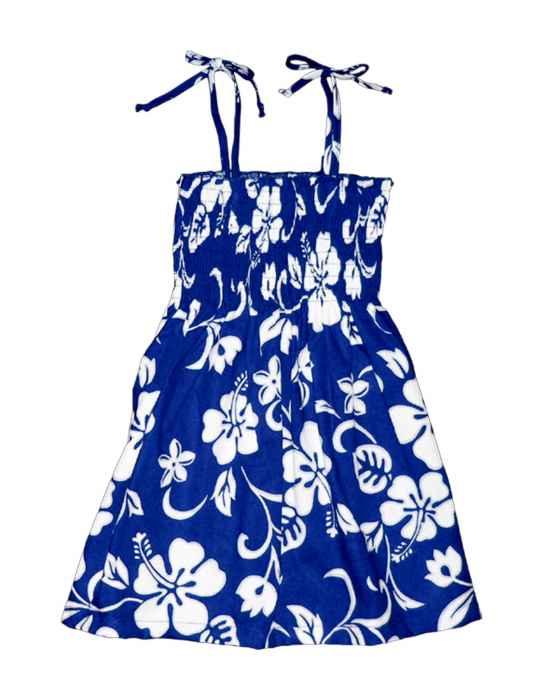 e430eff03a2 Girls Tube Top Smock Dress Hibiscus Kaneohe  Shaka Time Hawaii Clothing  Store