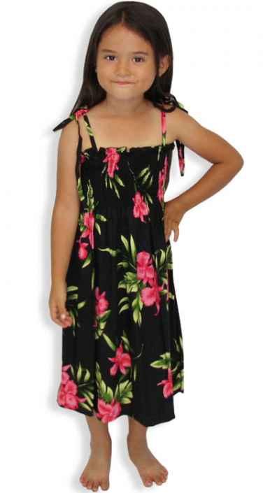089baee7cdee Smock Top Girl's Hawaiian Dress Okalani: Shaka Time Hawaii Clothing Store