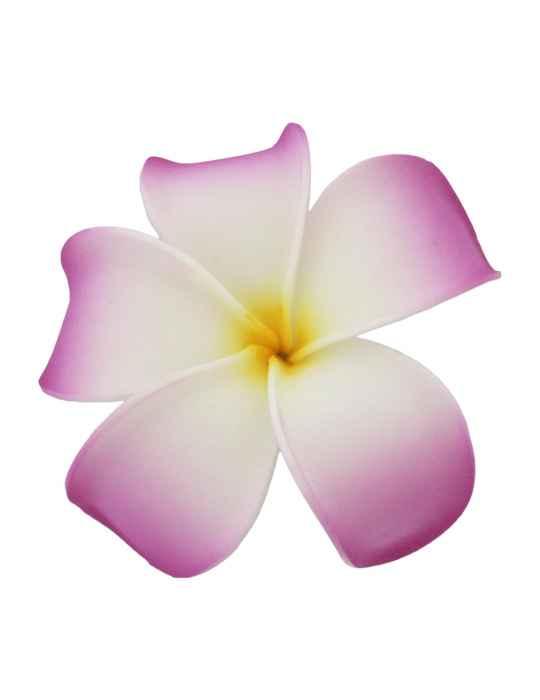 Large Plumeria White Purple Flower Hair Clip: Shaka Time Hawaii ...