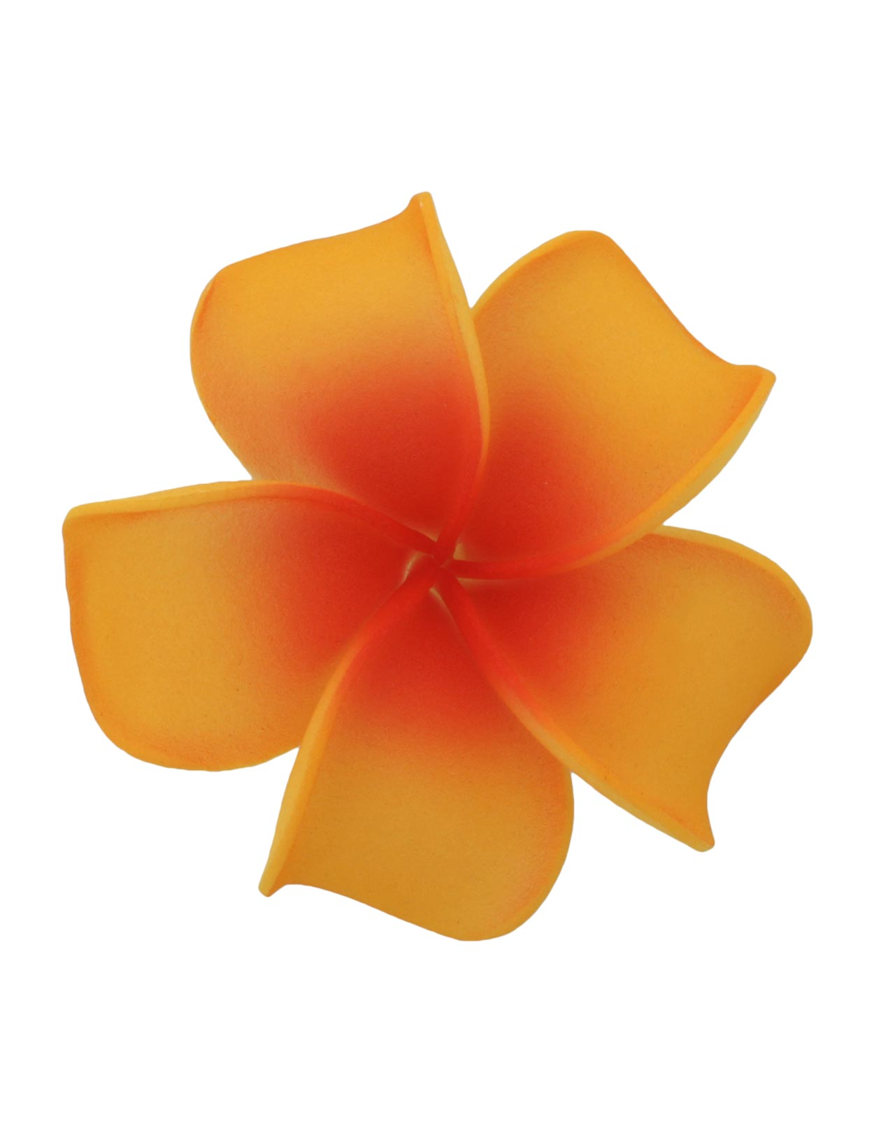 Orange /& Yellow Hawaiian PLUMERIA FOAM FLOWER HAIR CLIPS Hawaiian Sunset Reds