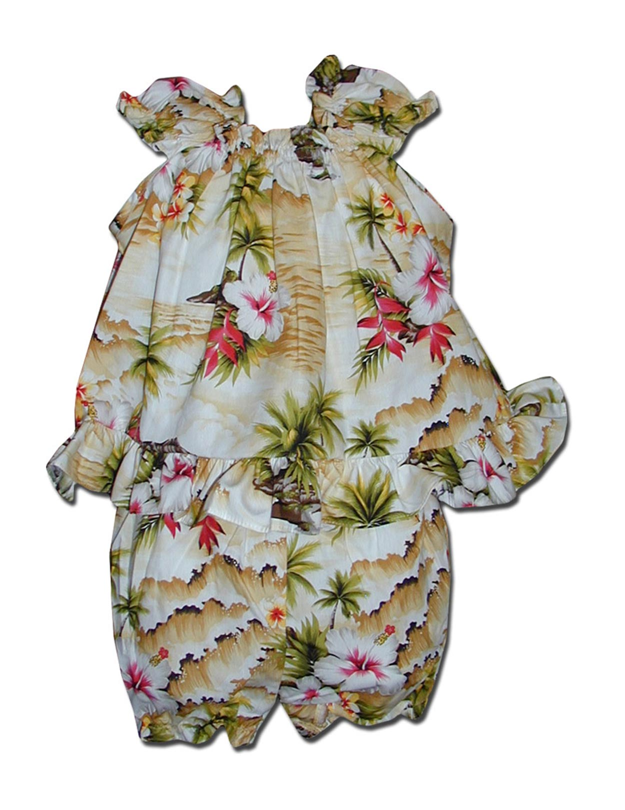 Infant Baby Clothes Set Hookipa Hibiscus Shaka Time Hawaii Clothing