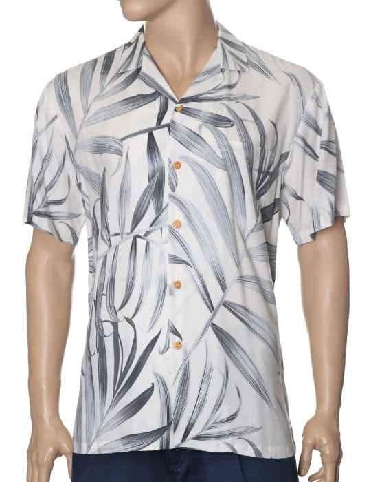 2432ed4492 Palms Fronds Rayon Hawaiian Shirt