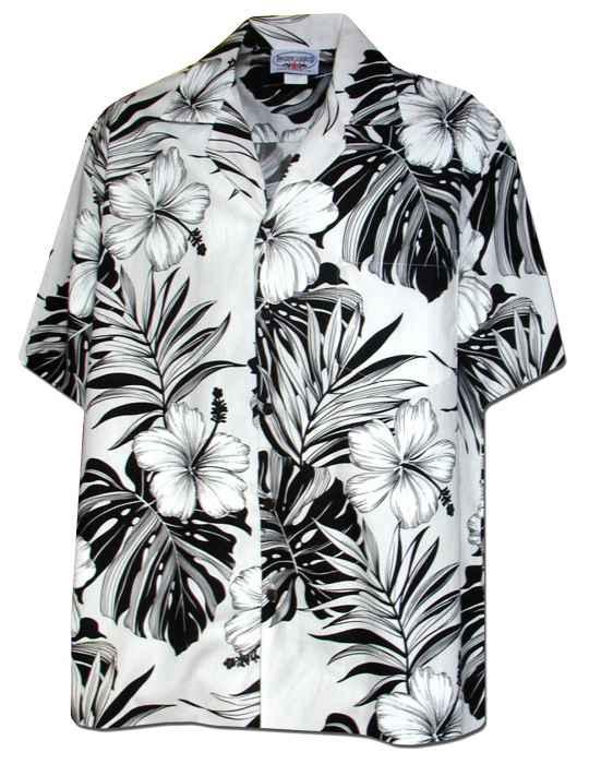 62721fe4dee Palekaiko White Aloha Shirt for Men  Shaka Time Hawaii Clothing Store