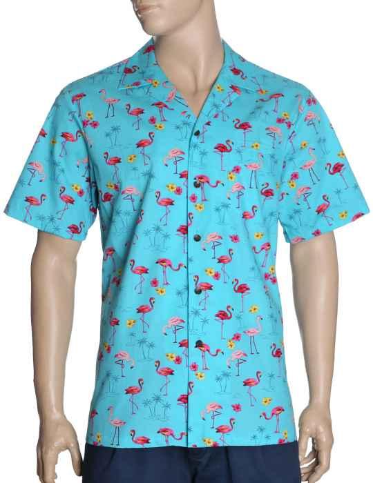 8796d151e5591c Flamingo Time Hawaiian Shirt: Shaka Time Hawaii Clothing Store