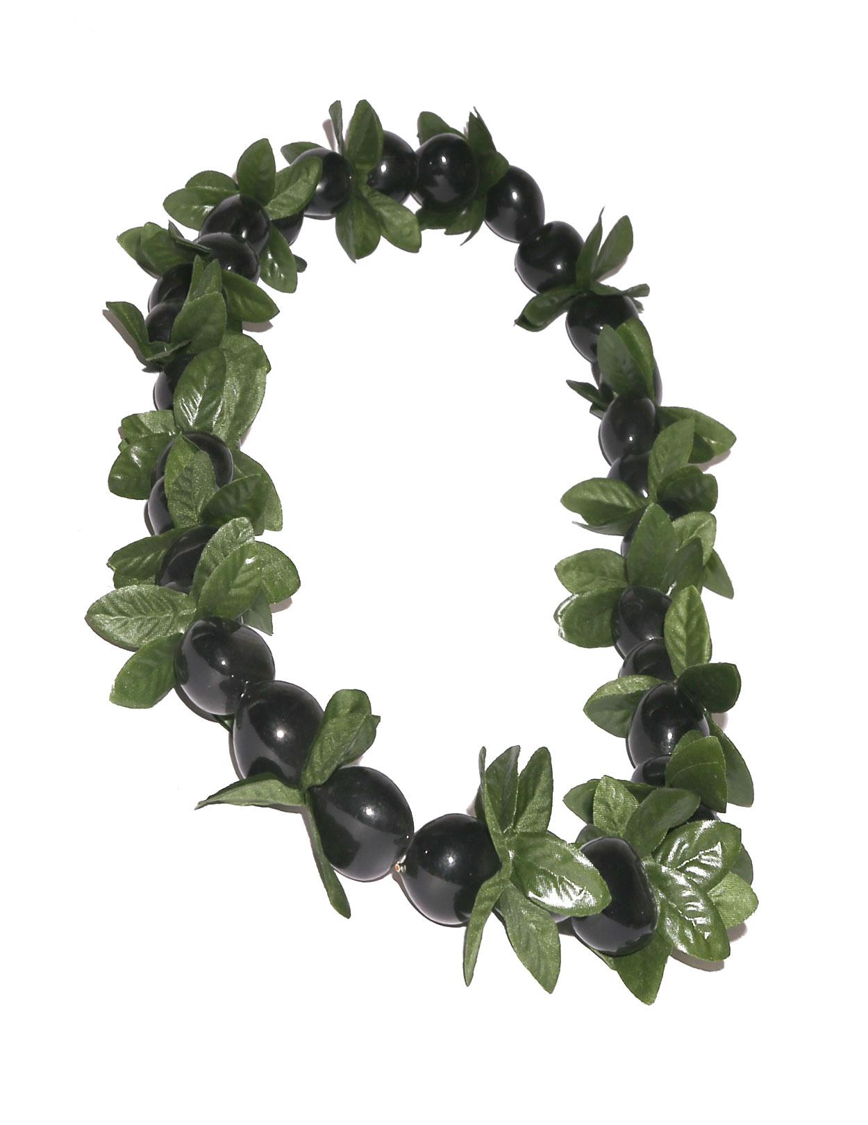 Leis from hawaii headbands anklets shaka time hawaii black kukui nut and point leaf leis hawaii izmirmasajfo