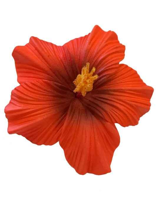 Large Hibiscus Flower Hair Clip Orange Shaka Time Hawaii Clothing Store