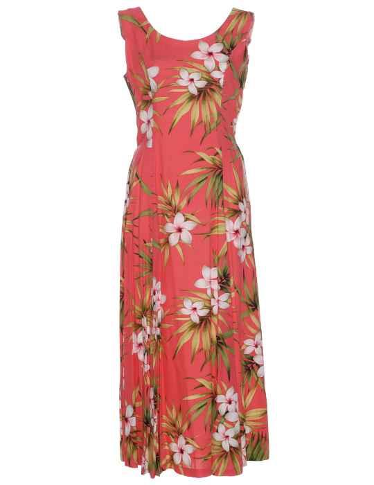 7b8f89f4e41fc Maxi Hawaiian Dress Plumeria Rain: Shaka Time Hawaii Clothing Store