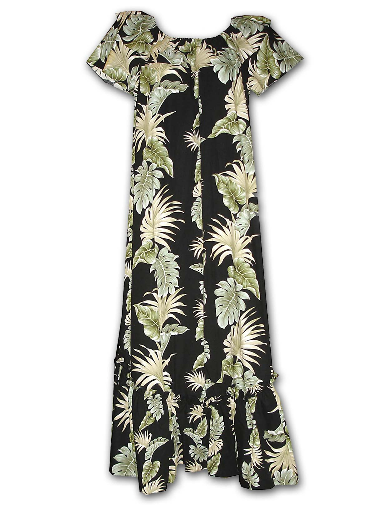 Lei of Aloha Long Muumuu Hawaiian Dress: Shaka Time Hawaii Clothing ...