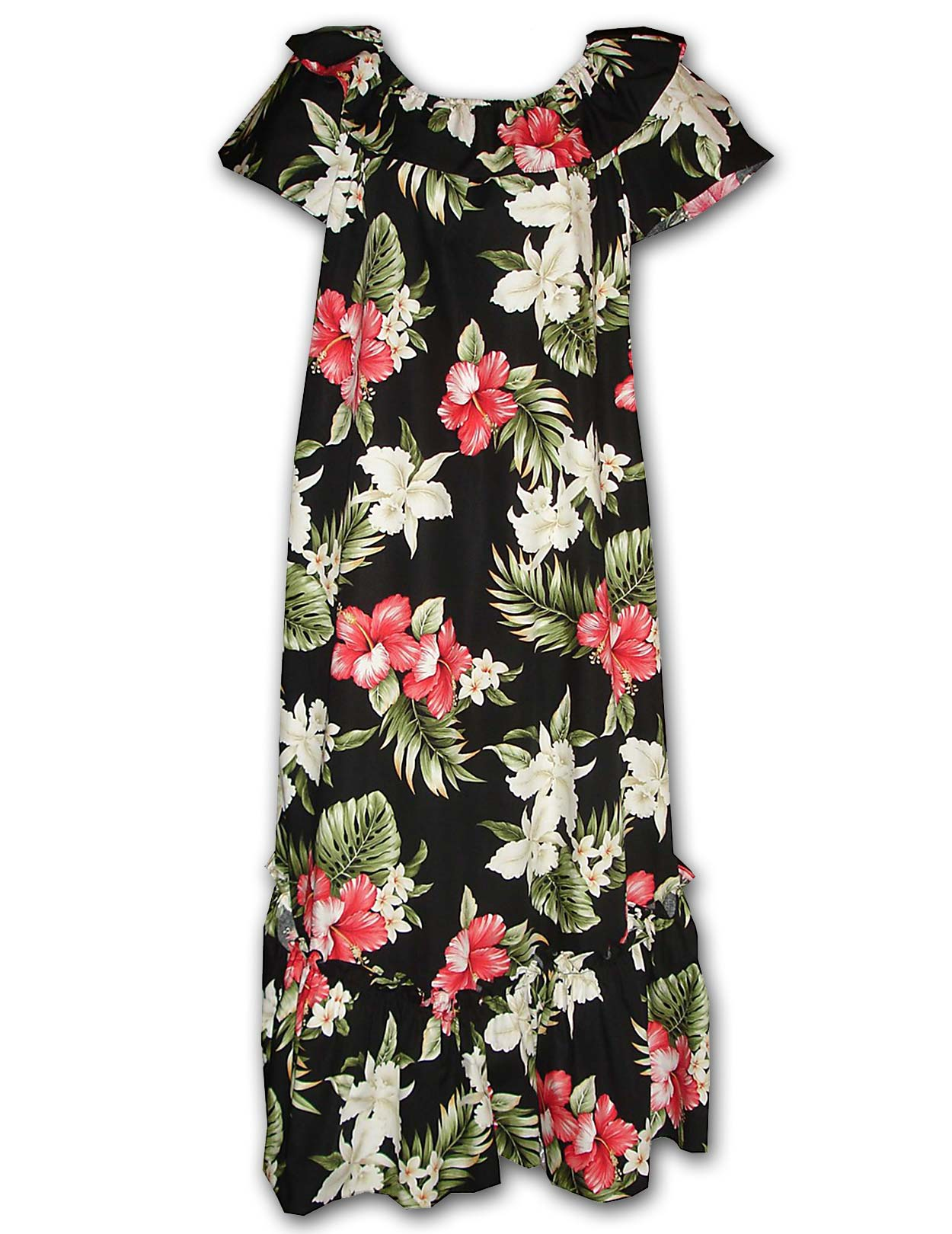 f206085a23d Long Muumuu Hawaiian Dress Orchid Paradise Ko Olina  Shaka Time Hawaii  Clothing Store