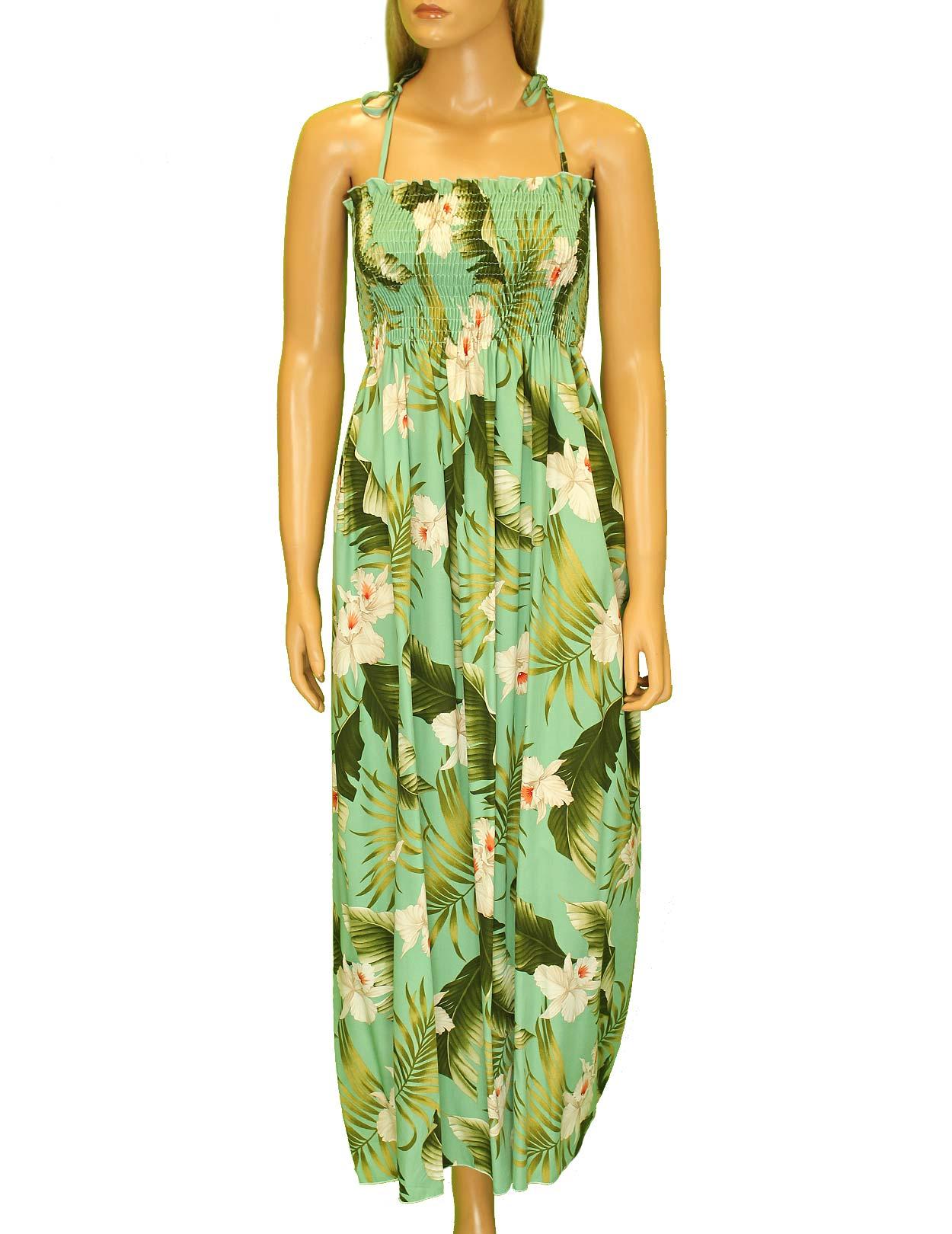 c3dfe1b54481 Hawaiian Dress Maxi Smock Top Orchids Creation: Shaka Time Hawaii Clothing  Store