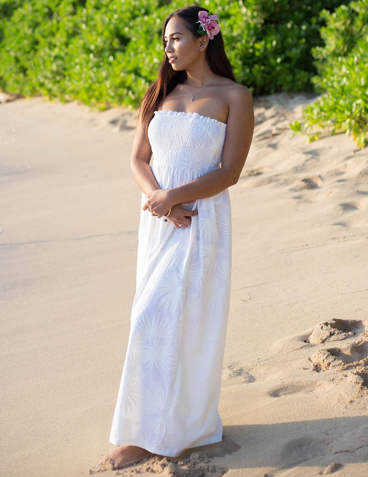 Hawaiian Bridal Dress