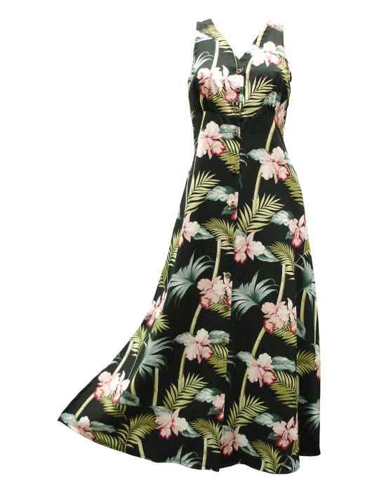 2290135b3a Maxi Long Hawaiian Dress Orchid Bamboo: Shaka Time Hawaii Clothing Store