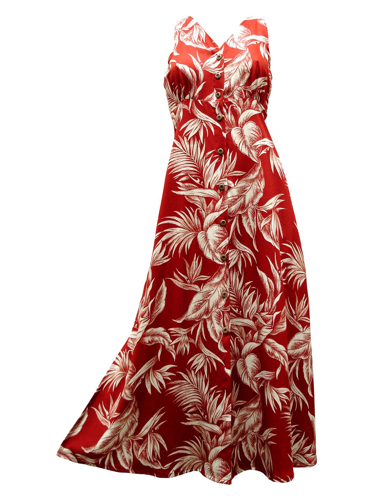 Long Hawaiian Dresses - Shaka Time Hawaii Clothing Store