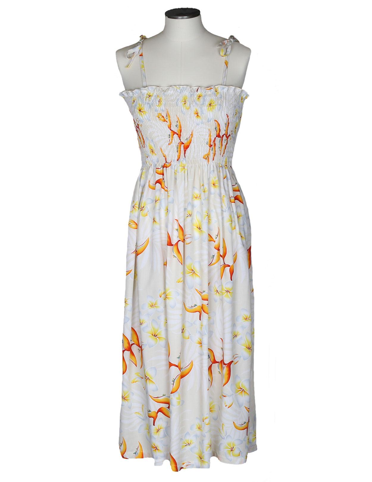 1ba20cec9e3e Long Maxi Rayon Smocked Dress Birds of Paradise 610RFH