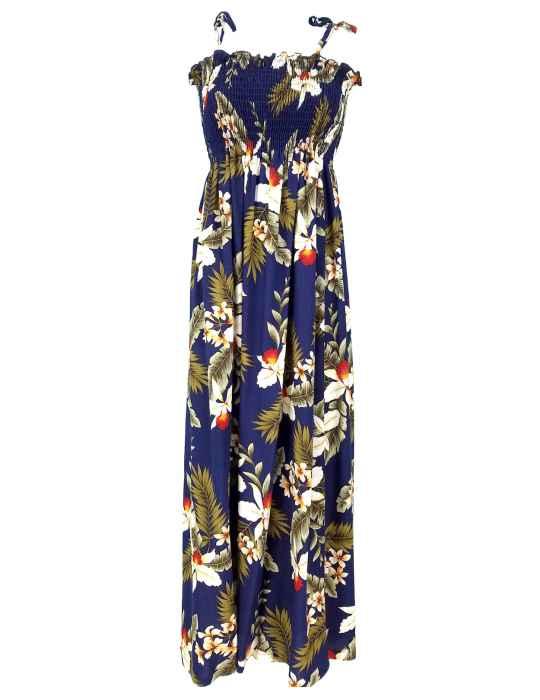 4566f5a9040 Tube Top Maxi Long Smock Floral Dress Hanapepe