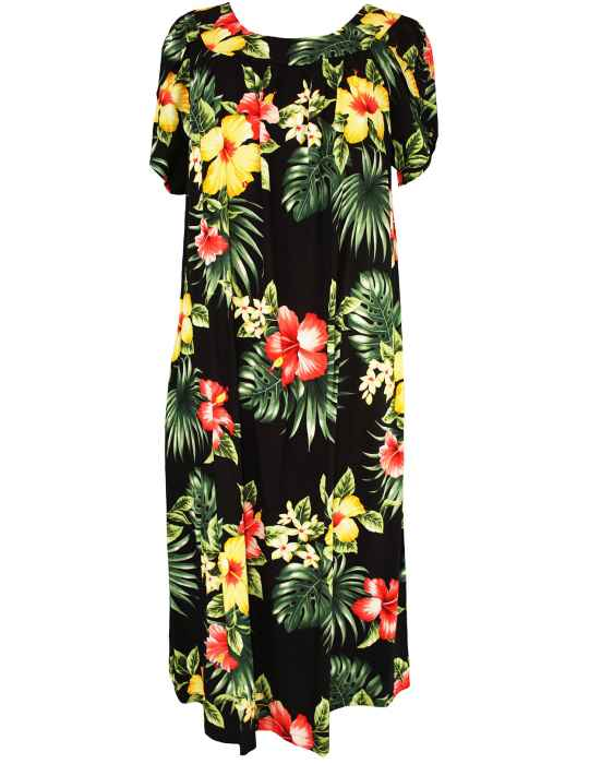 cf3a96fed4 Lihue Hibiscus Hawaiian Muumuu Dress: Shaka Time Hawaii Clothing Store