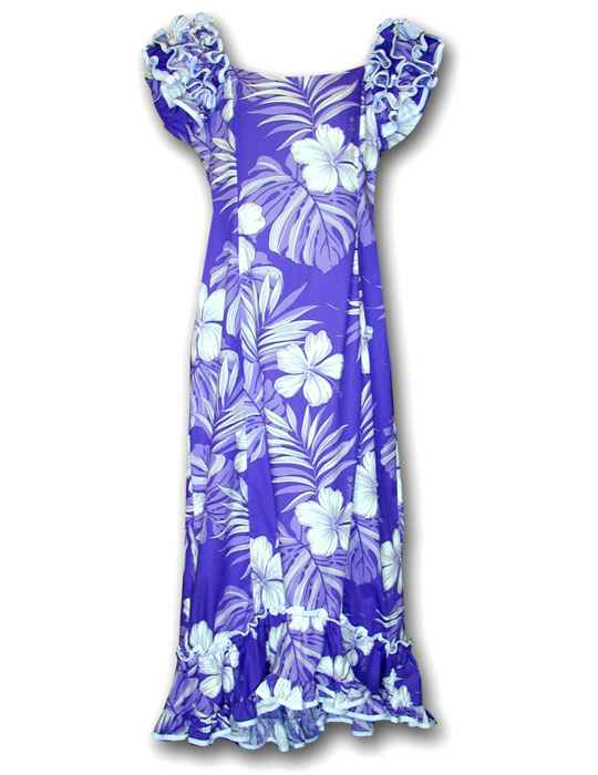 1ad242375f Long Muumuu Dress Palekaiko Purple  Shaka Time Hawaii Clothing Store