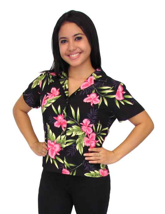 53a6b2a7cfed79 Okalani Rayon Hawaiian Shirt for Women  Shaka Time Hawaii Clothing Store