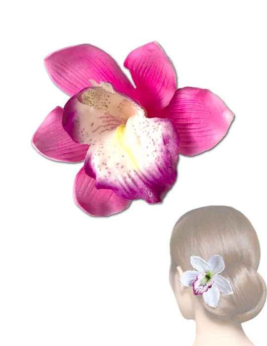 Pink hawaii orchid flower hair clip shaka time hawaii clothing store pink hawaii orchid flower hair clip mightylinksfo