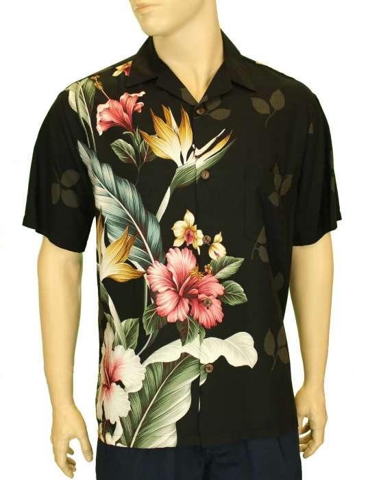 254bb597 Birds of Paradise Hibiscus Hawaii Shirt: Shaka Time Hawaii Clothing Store