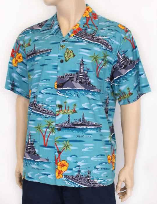 f6cba173 Pearl Harbor Hawaii Navy Ships Aloha Shirt: Shaka Time Hawaii Clothing Store