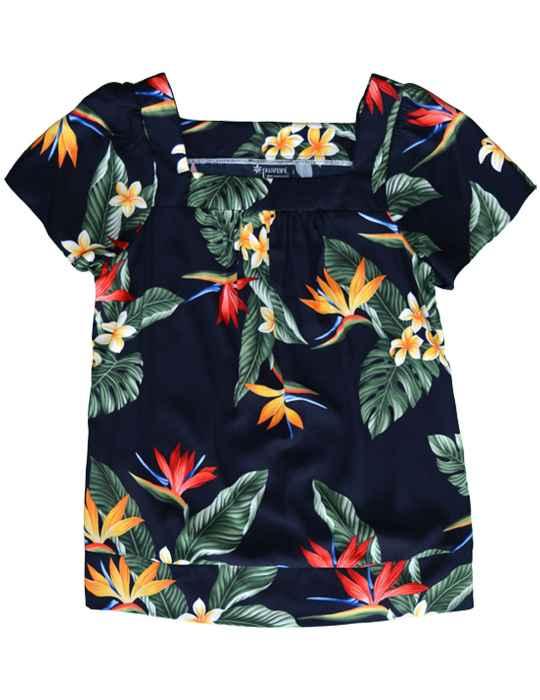 061f722a Birds of Paradise Hawaiian Blouse: Shaka Time Hawaii Clothing Store