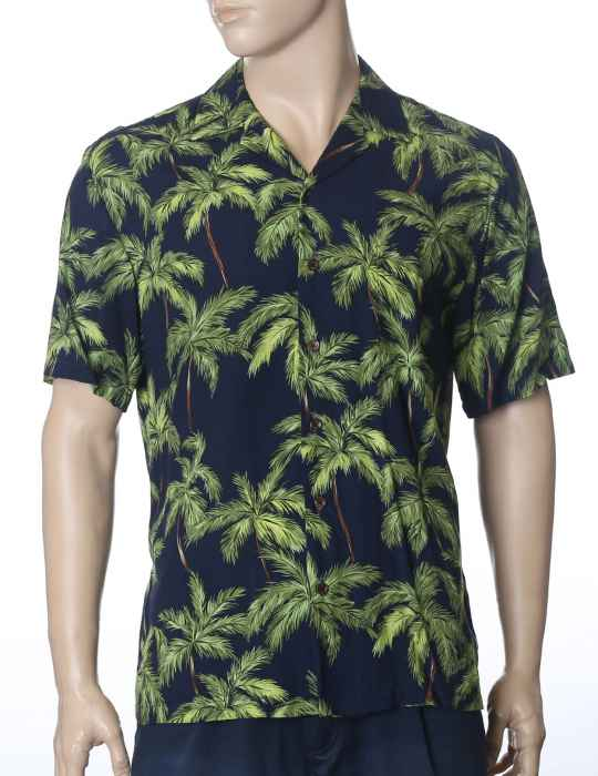 0c7070ffc Tropical Palms Hawaiian Shirt: Shaka Time Hawaii Clothing Store