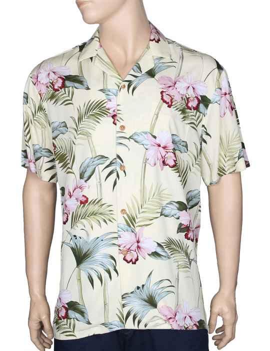 c89b4a8656 Orchid Bamboo Rayon Aloha Shirt