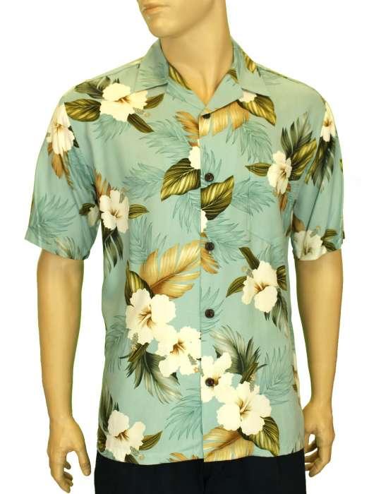 f00bcc09 Hawaii Shirt Print Hibiscus Jungle Design: Shaka Time Hawaii Clothing Store