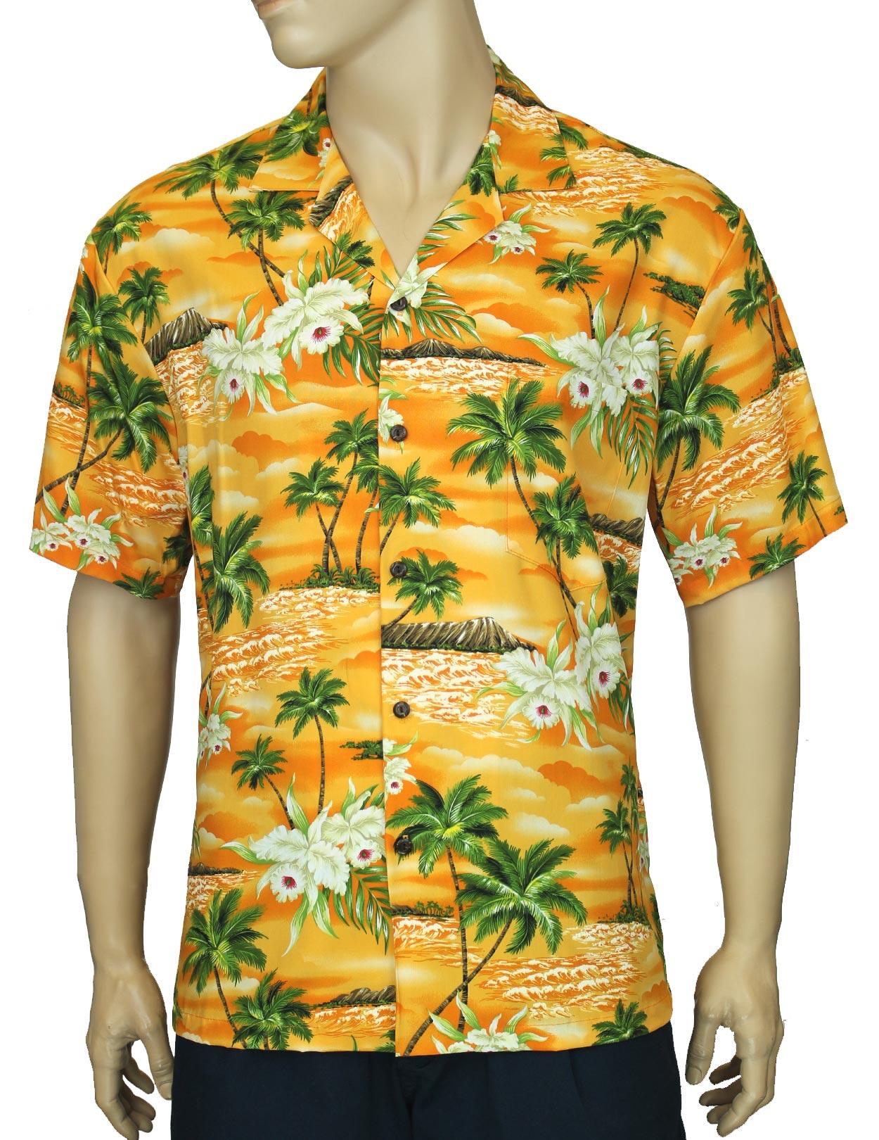 530907a8 Rayon Aloha Diamond Head Hawaiian Shirt: Shaka Time Hawaii Clothing Store