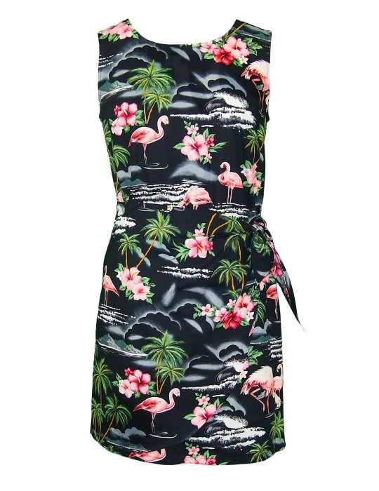 Tropical Flamingos Sarong Dress