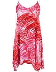 d39c7b946ffa Wailea Short Hawaiian Dress with Scarf Hem