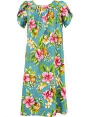 3fe1ba5c54e5 Hibiscus Valley Pull Over Short Muumuu Dress