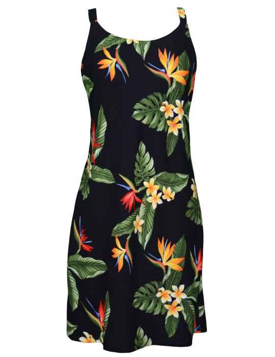 f4dcb8f9d1 Birds of Paradise Short Hawaiian Dress: Shaka Time Hawaii Clothing Store