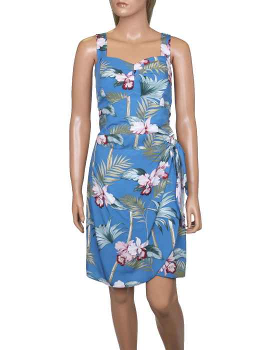 43e0e2fd13 Short Sarong Wrap Dress Orchid Bamboo Adjustable Straps: Shaka Time Hawaii  Clothing Store