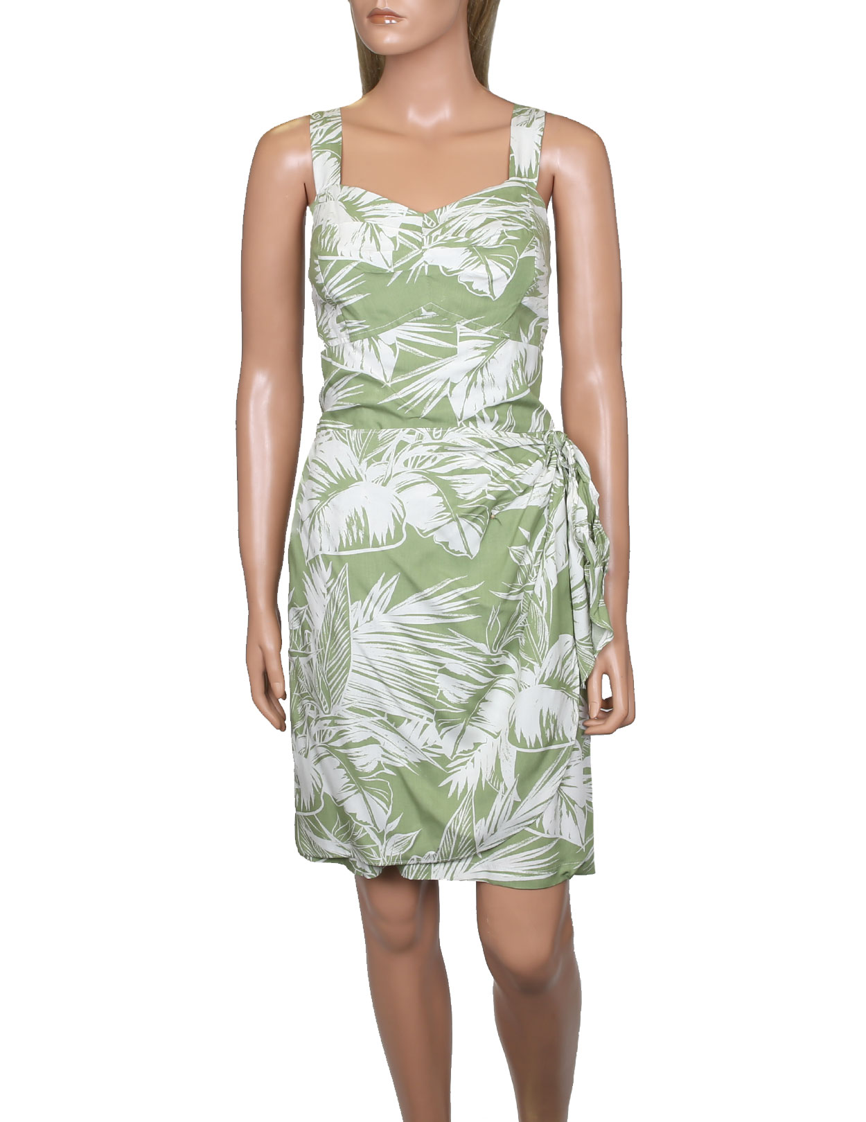 56108266f2 Tropical Jungle Short Sarong Wrap Hawaiian Dress: Shaka Time Hawaii  Clothing Store