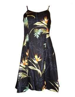 8b710b1102 Bamboo Paradise Spaghetti Strap Hawaiian Dress in Black
