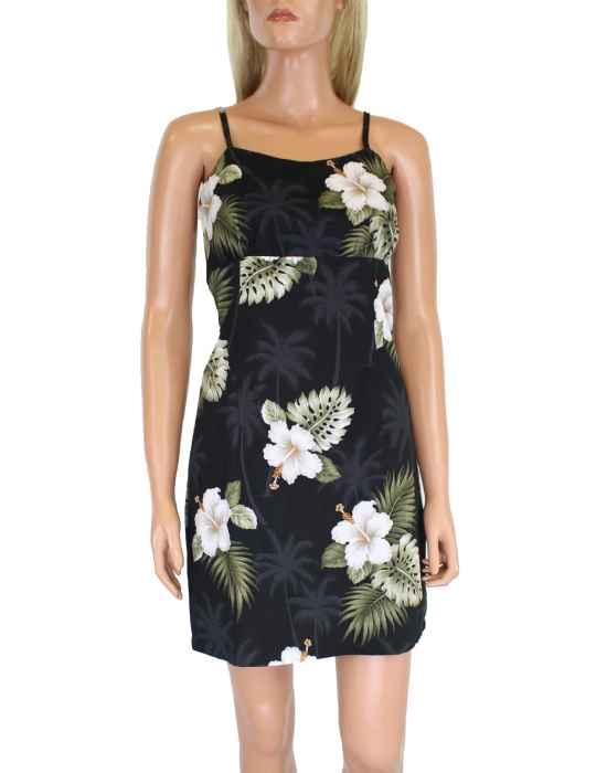 0f0671659382 Ka Pua Short Spaghetti Beach Aloha Dress: Shaka Time Hawaii Clothing Store
