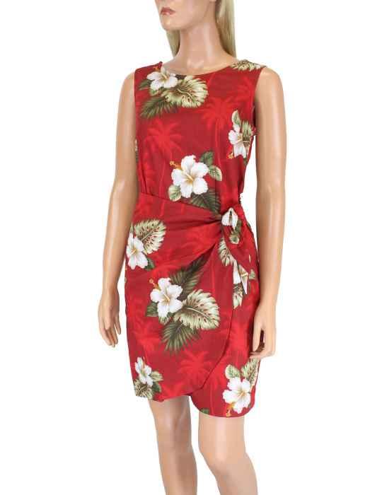 09a5f80834eb Ka Pua Short Sarong Hawaiian Dress: Shaka Time Hawaii Clothing Store