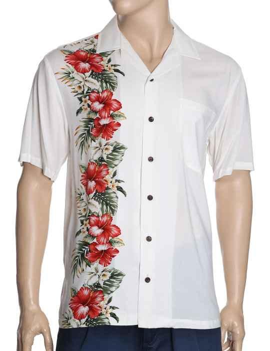 ee94fcb31d Wedding Hawaiian Shirt Border Design Mau-Loa-Aloha